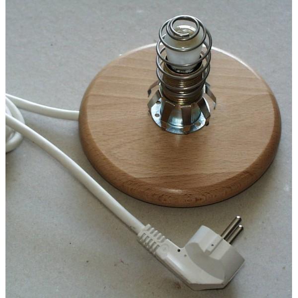 salzkristall lampe geschirmt min 3 5kg kristall 2m leitung e14 15w anti. Black Bedroom Furniture Sets. Home Design Ideas